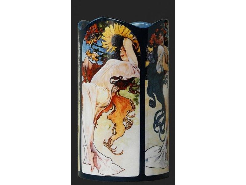 Silhouette d'Art - John Beswick Mucha - Four Seasons (1896) Vase, künstliche Vase, Museumsvase