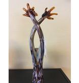 Vetro Gallery Giraffe couple, glass sculpture, two giraffes