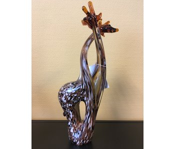 Vetro Gallery Giraffe couple, glass sculpture