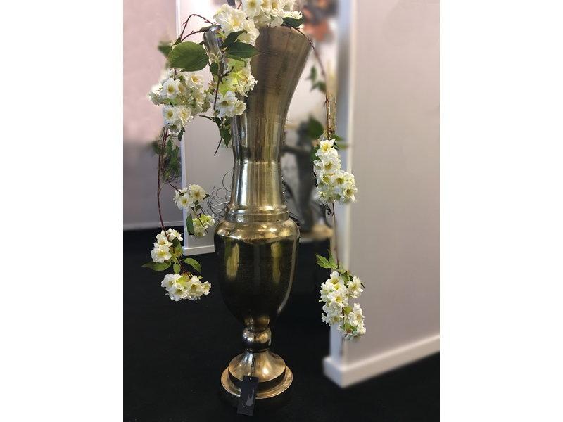Dutch Design Label  Tall Aluminium vase in bronze  102 cm