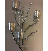 Dutch Design Label  Candelabro de pared Twig con cuatro luces de viento
