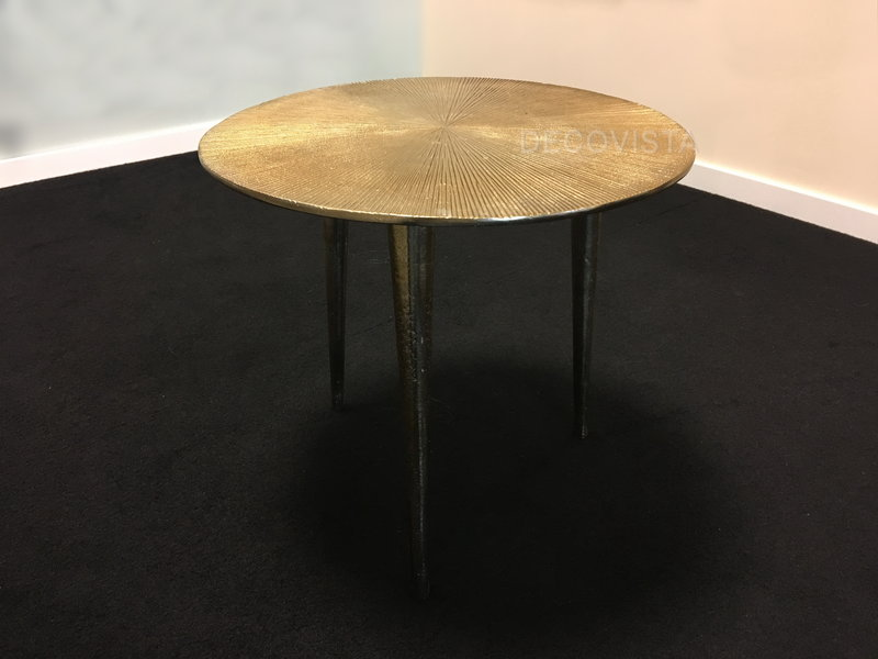 Colmore Runder, metallischer Tisch