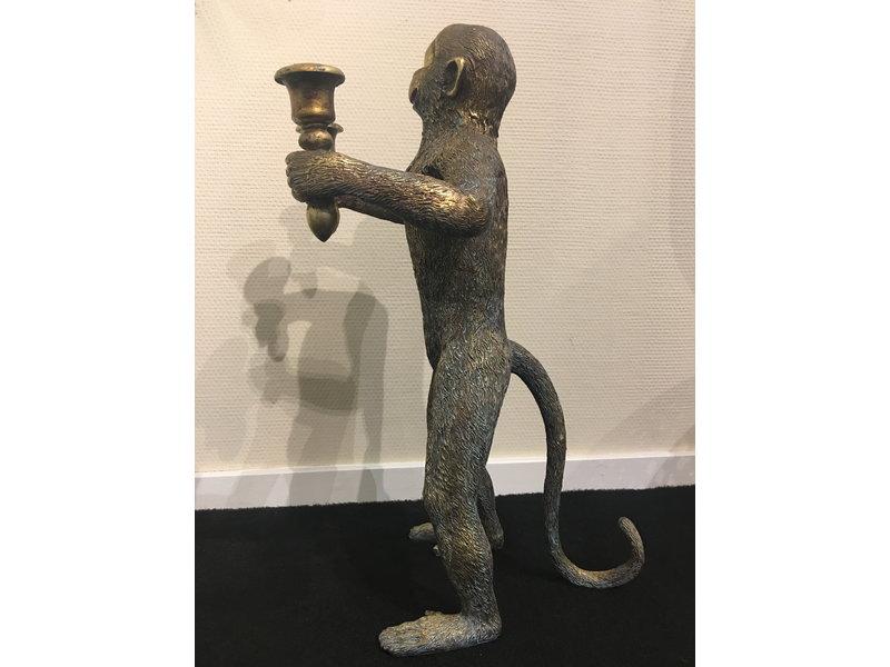 Stehender Affe im antiken Look, Affenkerzenhalter