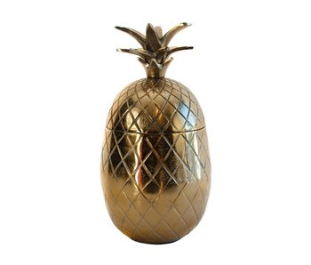 Colmore Pineapple box with crown lid, bronze