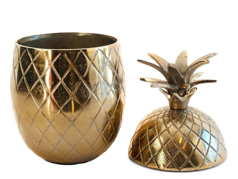 Colmore Aluminium ananas in vintage brons, opbergbox