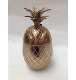 Colmore Aluminium Ananas in Vintage bronze, Aufbewahrungsbox- L