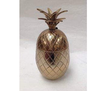 Colmore Caja de piña con tapa de corona, bronce - L