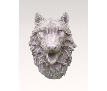 Wolf head wall decoration