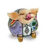 Toms Drag Schweinefigur Patrick - Gold, Glücksschweinchen