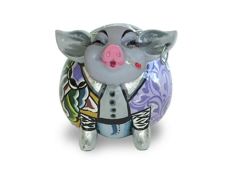 Toms Drag Schweinchen Cedric, Silver Line, Glücksschweinchen