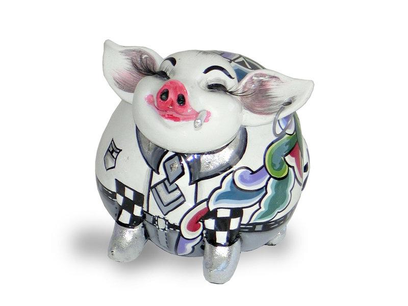 Toms Drag Schweinchen Hendrik, weiss Glücksschweinchen
