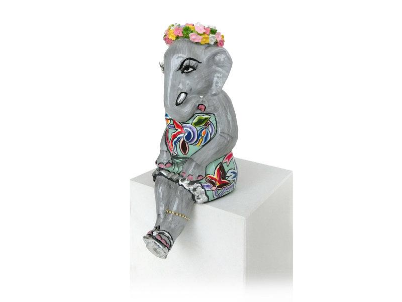 Toms Drag Zittend olifantenmeisje Elly, Silver