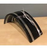 Carneol Bureauklok Stripy - zwart-wit