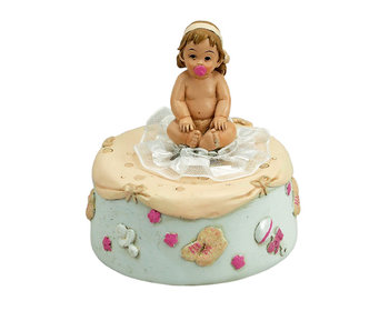 Musicboxworld Music box baby girl with pacifier