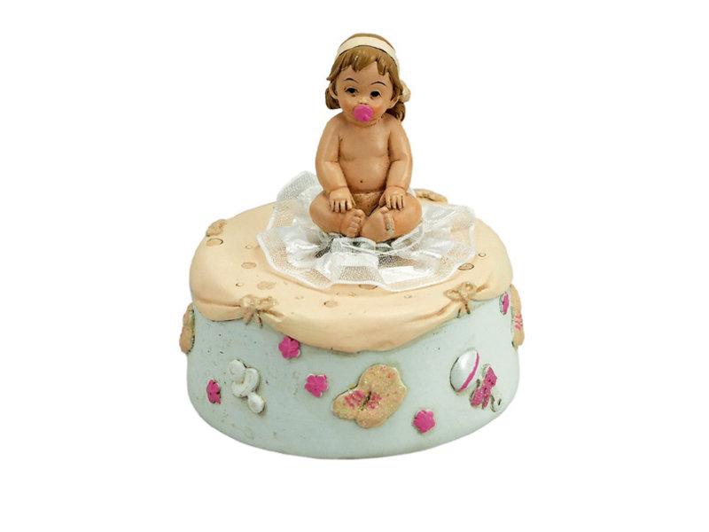 Musicboxworld Speeldoosje baby meisje met fopspeen