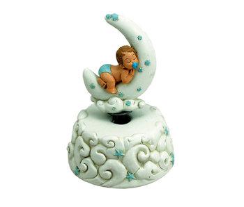 Musicboxworld Spieluhr Baby Jungen auf Mond