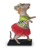 Toms Drag Dance mouse with red tutu, figurine mouse Lizzy
