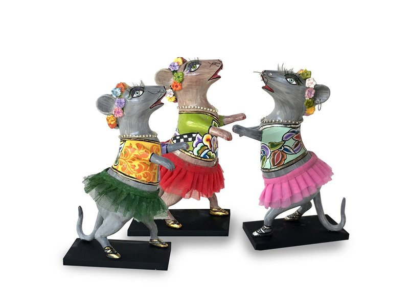 Toms Drag Dance mouse with pink tutu, figurine mouse Lizzy