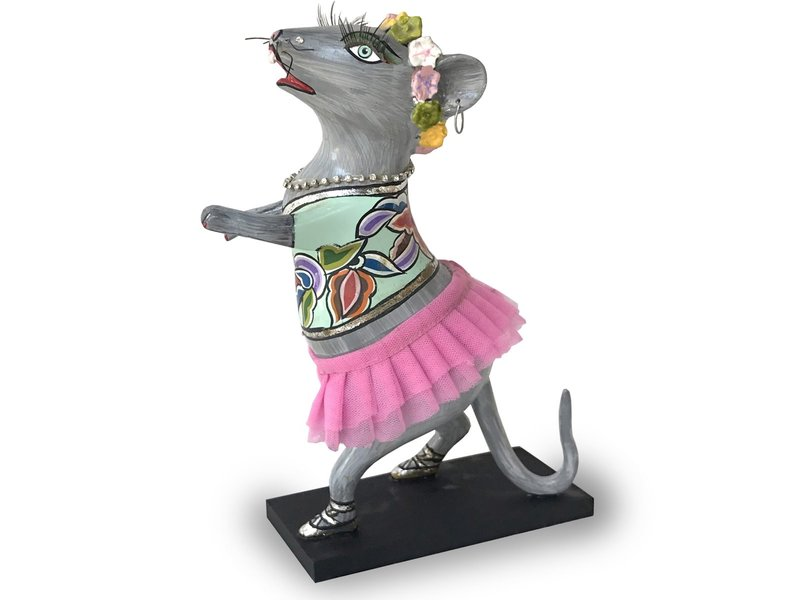 Toms Drag Tanzmaus mit rosa Tutu, Figur Maus Lizzy