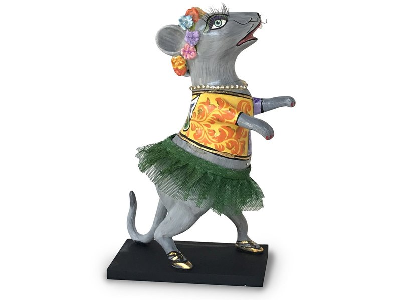 Toms Drag Tanzmaus mit grüne Tutu, Figur Maus Lizzy