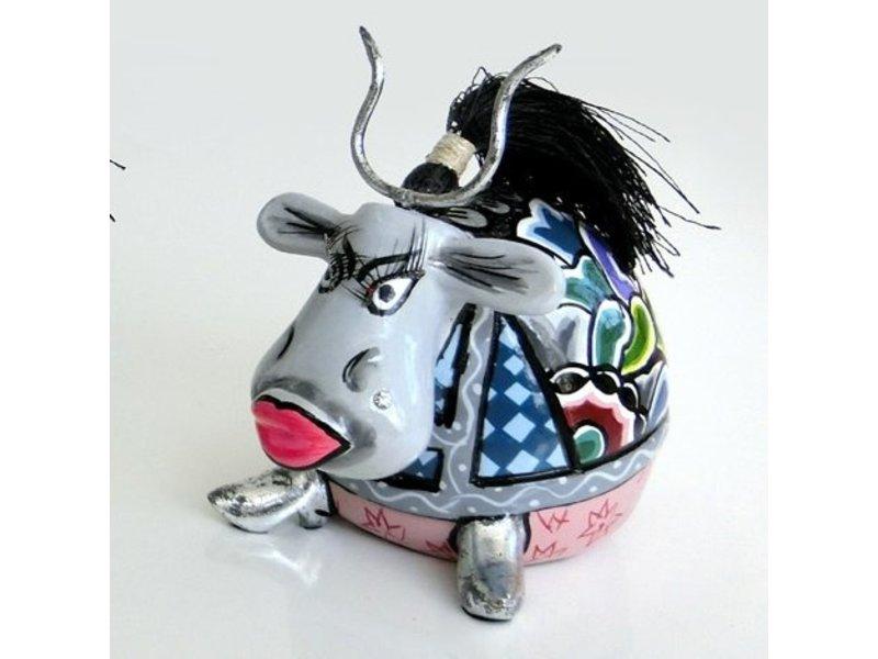 Toms Drag Kleine Kuh Walter mit Hörnern, grau