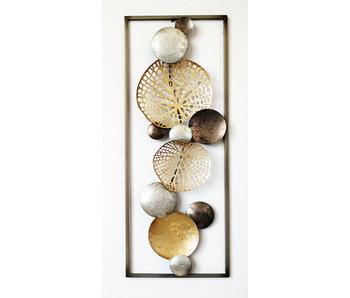 Frame-Art GaSp Wanddecoratie  metaal, Winter Leaf