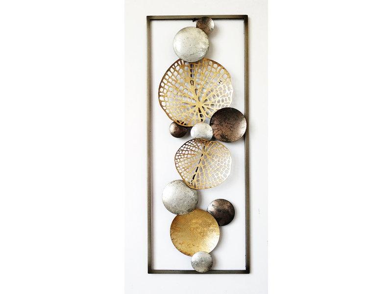 Frame-Art GaSp Wall object, metal Winter Leaf
