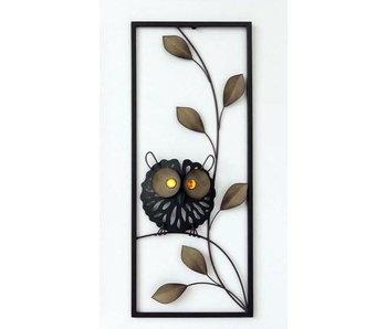 Frame-Art GaSp Wall decoration Owl on leafy branch