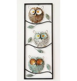 Frame-Art GaSp Metal Wall art Three owls in frame