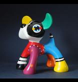 Jacky Art Colorido objeto de arte Junior, la estatua del perro