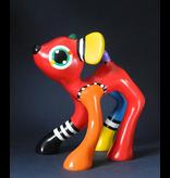 Jacky Art Hirsch Jules, farbenfrohe Tierstatue