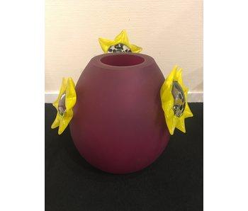 Ozzaro  Vase Sunflower, glass