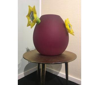 Ozzaro  Vase Sonnenblume, Glas