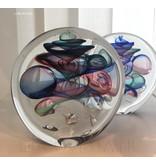 Ozzaro  Objeto de arte en vidrio de Ozzaro, Disco tricolor