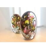 Ozzaro  Glaskunstobjekt von Ozzaro, dreifarbige Scheibe