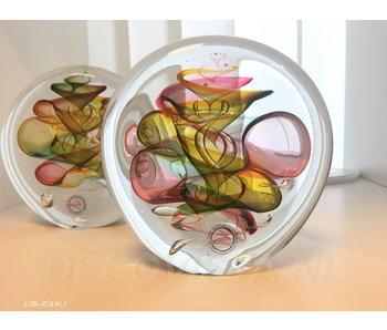 Ozzaro  Objeto de vidrio tricolor Disco - M