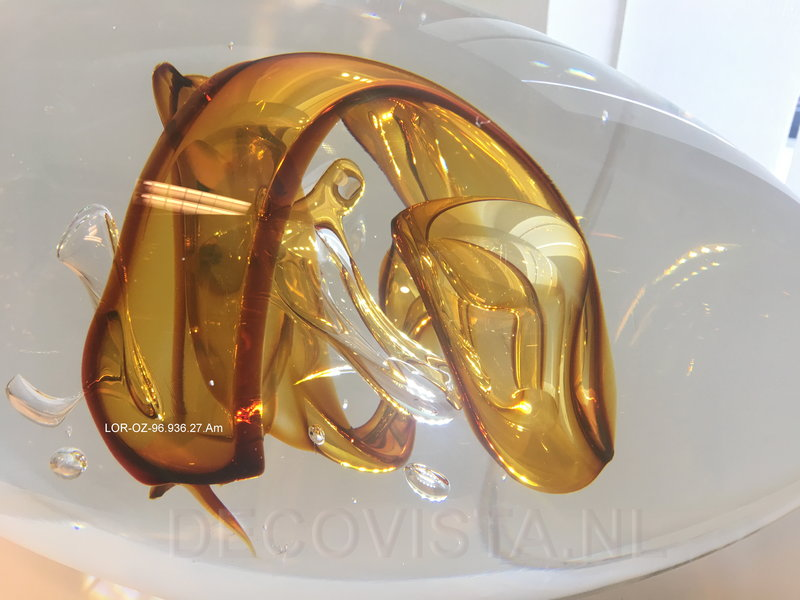 Ozzaro  Glass sculpture Knot in gold