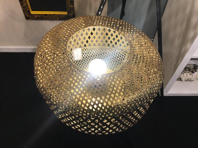 Messing UFO Stehlampe auf 3 Beinen, niedriges Modell