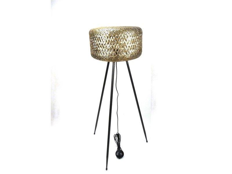 Messing UFO Stehlampe auf 3 Beinen, hohes Modell