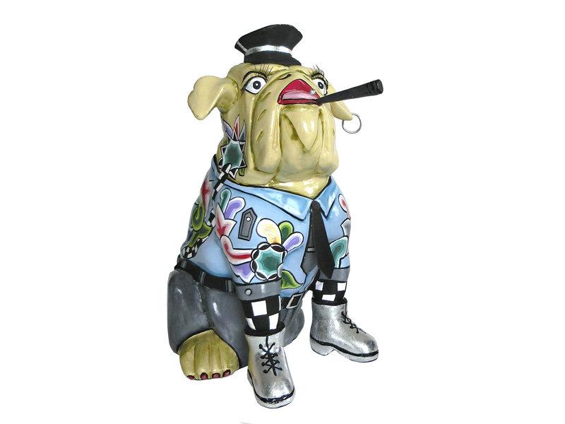 Toms Drag Dog statue Sergeant Davis - L