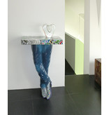 Toms Drag Table, console table Mens´s Legs - Silver Line