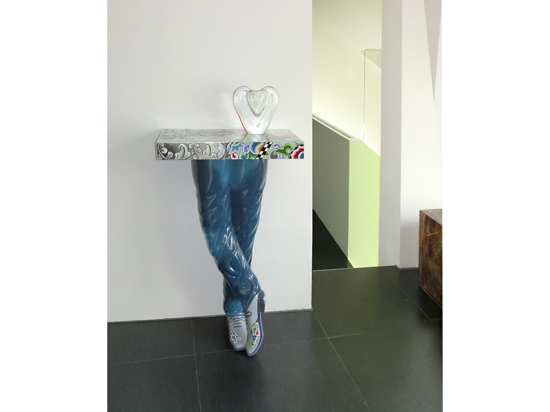 Toms Drag Tafel, console tafel Mens´s Legs - Silver Line