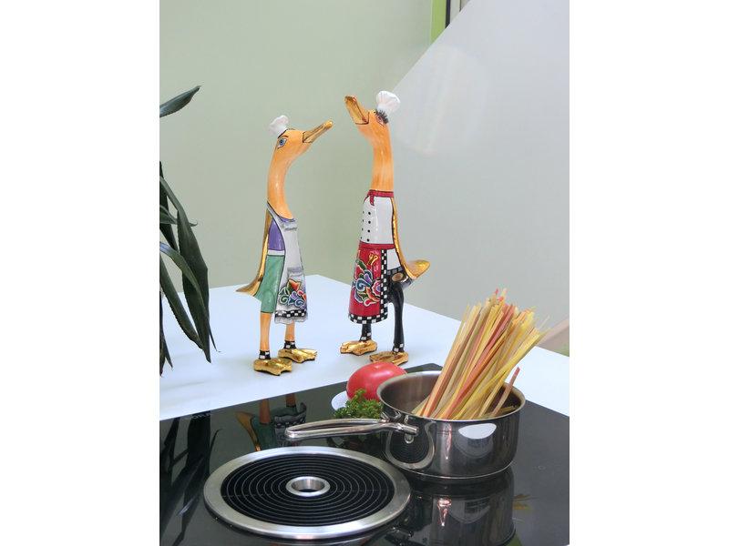 Toms Drag Eendenbeeld chef kok Alain, koksbeeld eend