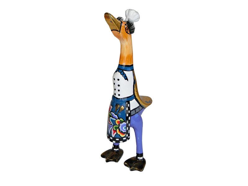 Toms Drag Eendenbeeld chef kok Alain, koksbeeld eend - S