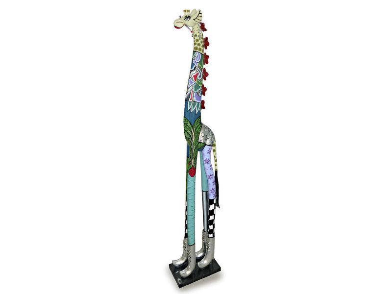 Toms Drag Roxanna giraffe statue XL - Silver Line