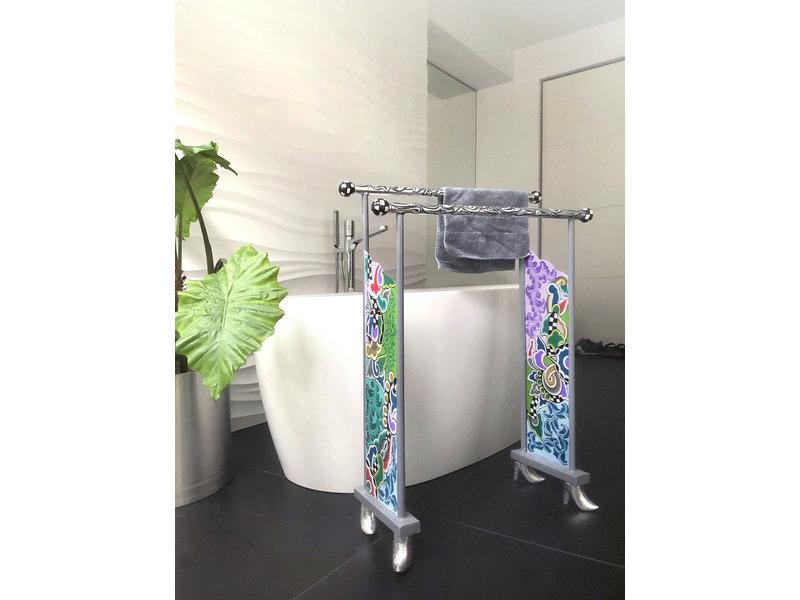 Toms Drag Badezimmer Handtuchständer - Silver Line
