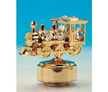 Musicboxworld Spieluhr goldene Dampflokomotive