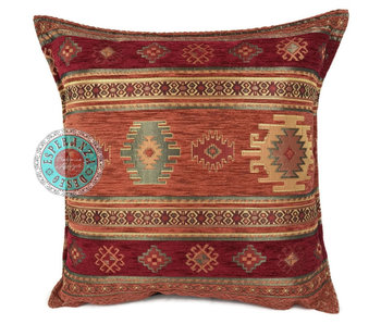 BoHo Bohemian cushion Aztec brick - 45 x 45