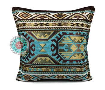 BoHo Bohemian cushion Maya Turqoise - 45 x 45