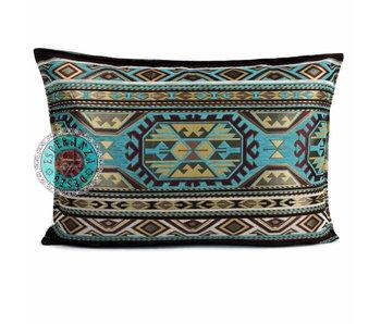 BoHo Bohemian sierkussen Maya Turqoise - 50 x 70